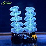 Saim Glowing Effect Artificial Plant for Fish Tank Decorative Aquarium Ornament