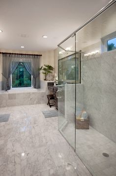 Toll Brothers - America's Luxury Home Builder like the step down shower, whole bathroom not bad