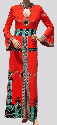 1970s Paganne maxi dress
