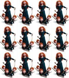 Brave Disney, Princesas Disney, Disney Princesses, Silhouette Cameo, Paper Crafts, Drawings, Party, Brave Merida, Ideas Party