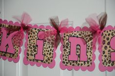 Cheetah Print Name Banner Birthday Party  Animal by lisamarDesigns, $20.00