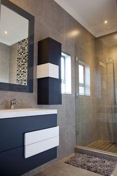 162 on Sunbird - Crontech Consulting Large Bathroom Mirrors, Bathroom Vanity Designs, Bathroom Design Luxury, Modern Bathroom Design, Grey Modern Bathrooms, Modern Vanity, White Ceiling, Led Ceiling, Property Development