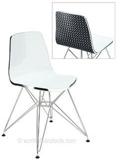 Ultra Modern Acrylic Dining Chair Black: Amazon.co.uk: Kitchen & Home £49.99