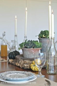 Between You & Me Thanksgiving Tablescape