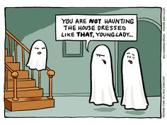 Today on The Daily Drawing - Comics by Lorie Ransom Funny Halloween Pictures, Halloween Quotes, Halloween Fun, Funny Pictures, Halloween Cartoons, Halloween Humor, Funny Puns, Funny Cartoons, Funny Stuff