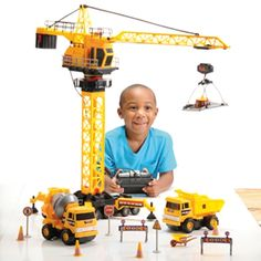 Construction Site with Remote Control Crane from CP Toys on Catalog Spree, my personal digital mall.