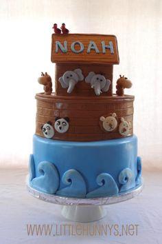 Noah's ark baby shower cake!! www.LHCakery.com