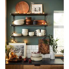 Deco Design, Küchen Design, Home Design, Interior Design, Design Ideas, Diy Kitchen Storage, Kitchen Shelves, Lp Storage, Record Storage