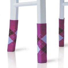 """o.m.g.  How about this: Socks for your chairs? Socks for your chairs you ask? Yup, 4 to be precise. Argyle, Tube, Striped, whatever your heart or personal style desires.  Slide them on your legs – your chairs legs that is – and trust us, you'll have a conversation starter in seconds. They also work wonders in the boardroom, or any old meeting room that you want to add a little flair to.  The socks are about 5.9"""" (15 cm) long and if the chairs legs have a circumference between 4.3"""" – 5.3""""…"""