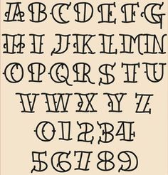 111 Tattoo Font Embroidery Design Set - Jolson's Designs