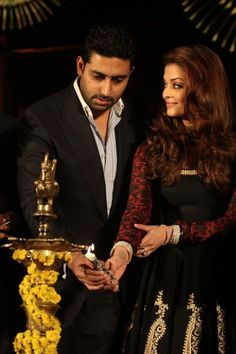 """""""This marriage has not been about names coming together or creating a force to reckon with for a perfect alliance. Very honestly, this is a boy and a girl who fell in love and got married with their parents' blessings…that's really our story – Abhishek and Aishwarya love each other.""""—Aishwarya Rai    What a perfect marriage requires...?  1.Love  2.Care  3.Silence"""