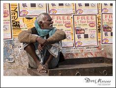 A man sits contemplating life in Varanasi, India Life Happens, Varanasi, Father, India, Baseball Cards, Pai, Goa India, Dads, Indie