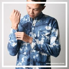 Tie Dye Denim shirt by warning clothing. #denimshirt #tiedye