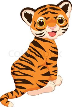 Stock vector of 'Vector illustration of Cute tiger cartoon'