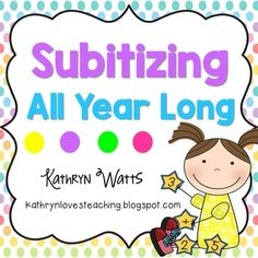 Newly Updated!!!!!!Subitizing All Year LongSubitizing is the ability to quickly identify the number of objects in a set without counting. There are two types of Subitizing. Perceptual Subitizing is the instant visual recognition of a pattern such as numbers in a ten frame.