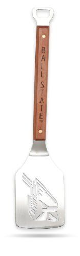 Sportula Products 7010083 Ball State Cardinals  Sportula by SPORTULA PRODUCTS. $24.99. convenient bottle opener. Unique laser-cut design. Custom heat-stampled lettering. Hard maple handles with durable brass rivets. Heavy-duty stainless steel. The Sportula is a heavy duty stainless steel grilling spatula that is perfectly designed for the Ultimate Tailgater.