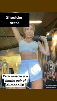 Gym Workout Videos, Gym Workout For Beginners, Fitness Workout For Women, Fitness Tips, Arm Workouts, Shoulder Workout, Workout Challenge, Fett, How To Lose Weight Fast