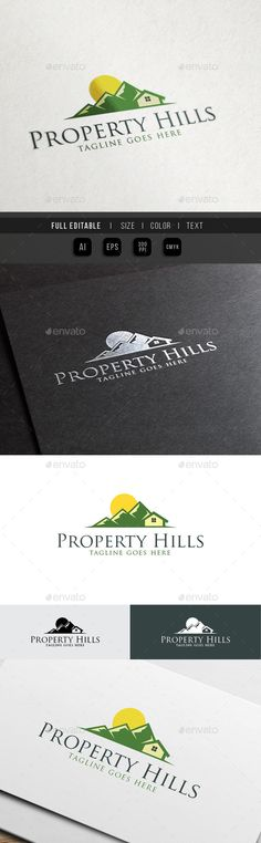 Property Hills  Eco Green House — Vector EPS #mortgage #developer • Available here → https://graphicriver.net/item/property-hills-eco-green-house/10451418?ref=pxcr