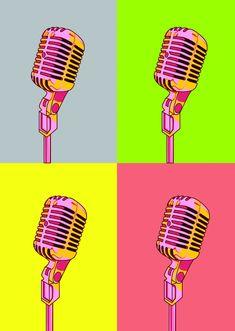 Pop Art - Vintage Microphone Grey - hardtofind.
