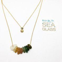 Sea Glass Beads Bohemian Necklace  Aqua Blue by DownByTheSeaGlass