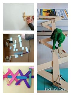 Popsicle stick STEM - simple STEM with craft sticks that your kids will LOVE! Make a catapult, a craft stick bomb, a popsicle stick bridge, and a marble run! | Meredith Anderson - Momgineer