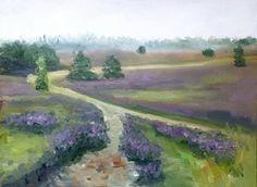 Dutch Landscape Veluwe Netherlands oil painting by NancyvandenBoom, €195.00