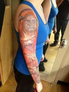 Labyrinth Top Tattoos, Body Art Tattoos, Tatoos, Labyrinth Tattoo, Terry Jones, Makeup Tattoos, Body Modifications, Body Mods, Tattoo Inspiration