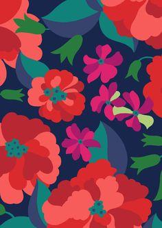 pattern by Minakani for DPAM #minakani #flowers #peony #bell #pattern