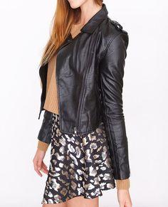 Black Speedy Moto Jacket #black #motojacket