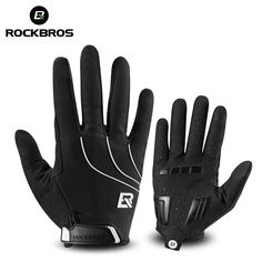 Wind-proof Thicken Outdoor Cycling MTB Bike Touch Screen Full Finger Gloves H1