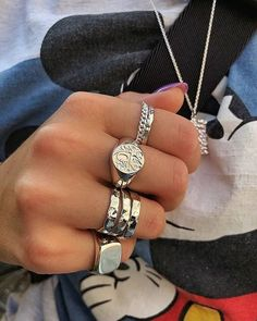 Camille Brinch Jewelery - Raw and feminine jewelry by Camille Brinch - Stacking Silver Rings 💎 - Hand Jewelry, Cute Jewelry, Silver Jewelry, Vintage Jewelry, Jewelry Accessories, Fashion Accessories, Women Jewelry, Jewlery, Jewellery Rings