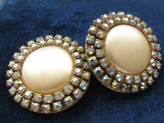Vintage Mid Century Faux Pearl Button and AB by ToadSuckTreasures, $25.00