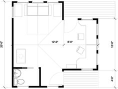 Floor Plan, elevations, and photos of the gotham Loft Bungalow In A Box.