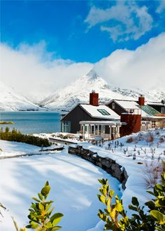 Winter at Matakauri Lodge in Queenstown, South Island, New Zealand ~ Places To Travel, Places To See, Beautiful World, Beautiful Places, Queenstown New Zealand, Destinations, Destination Voyage, New Zealand Travel, Winter Scenes