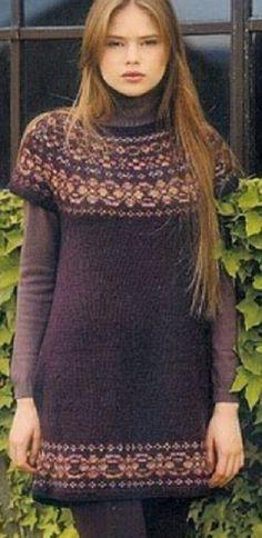 Вязание теплого платья