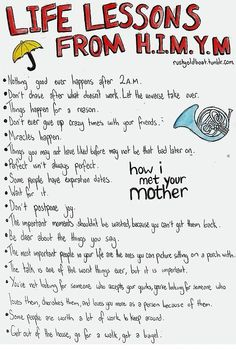 Life lessons from How I Met Your Mother.