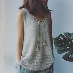 Ravelry: Breeze sleeveless airy top pattern by Irene Lin