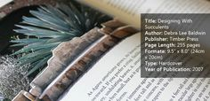 A book review on Designing With Succulents by Debra Lee Baldwin.