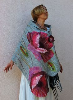 Felted scarves by Irina Liubina