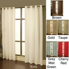 Perfect Sherry Kline Faux Silk Grommet Top Blackout Window Panel Pair   Overstock™  Shopping   Great Deals On Sherry Kline Curtains
