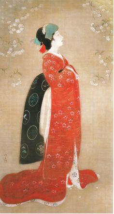 鏑木清方 ( Kaburaki-kiyokata: 1878 - 1972 ) 『春の夜のうらみ』(1922年)
