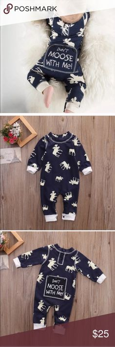 """Baby Boy Flapjack Sleeper Brand new. Boutique brand. Good solid quality material. Baby boy Flapjack """"Don't Moose With Me"""" Sleeper pajamas. Price is firm & no trades. Pajamas"""
