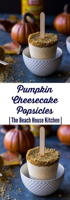 Pumpkin Cheesecake Popsicles