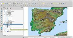 HispaniaGIS dataset v1.0 QGIS