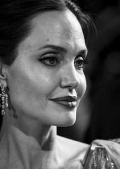 Feb 2020 - Angelina Jolie Photos - Image has been converted to black and white) Angelina Jolie attends the European Premiere of Disney's \ Angelina Jolie Photos, Disney Maleficent, Julia Roberts, People Photography, Brad Pitt, Mistress, Role Models, Fans, Hollywood