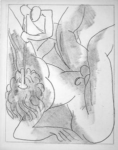 But it's no use, says he. Force, hatred, history, all that. That's not life for men and women, insult and hatred. And everybody knows that it's the very opposite of that that is really life. (Cyclops) - Disegno di Matisse per l'edizione speciale dell'Ulisse di Joyce  ( Polifemo accecato ).