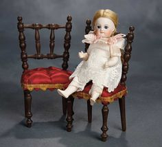 German All-Bisque Closed Mouth Child by Kestner with Tiny Ankles and Feet 1100/1500