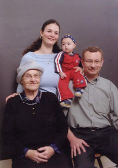 Four generations - Holocaust survivor Sophie Engelsman, her firstborn son Joop, her first granddaughter Oriyah and her second great-grandchild Ma'ayan