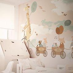 Little Hands Wallpaper Mural - Play time on Behance Baby Boy Rooms, Baby Bedroom, Nursery Room, Kids Bedroom, Bedroom Decor, Little Hands Wallpaper, Baby Corner, Baby Room Design, Kids Lighting