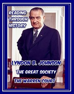 This is a three-part unit from Reading Through History that highlights the (domestic) political career of Lyndon Johnson, the legislation of the Great Society, and the impact of the decisions of the Warren court. Each lesson contains a one or two-page reading followed by three pages of student activities which include guided reading activities, multiple choice questions, a student response essay, vocabulary activities, and a series of student summary statements.